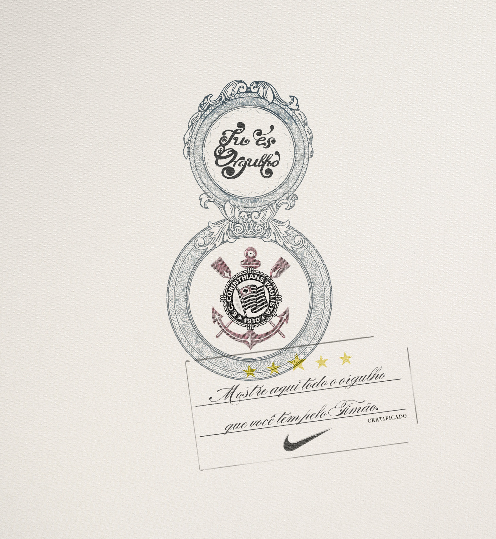 48889099ff In the Launching of the Corinthians new jersey, with the theme You're  Proud. The fans received the Certificate of Love for the team.